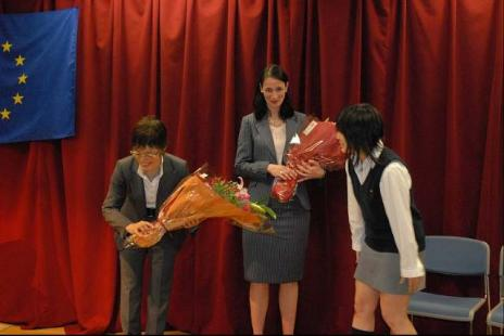 JAPAN: 50th anniversary of the EU in Keio Girls High School - 慶應義塾女子高等学校