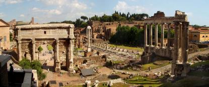 Forum Romanum och Rom en guldgruva för humanister