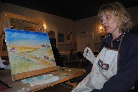 Vi är ett mycket glatt gängsynd bara att tiden går så fort på onsdagskvällensägerMaria Holmstedt.