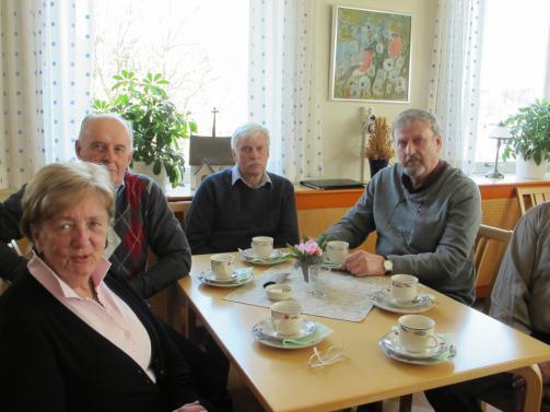 Märta Östman, Stig Österström, Rune Persson och Gunnar Hansson.