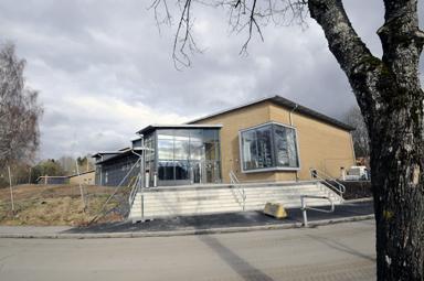 Nya samlingssalen, matsalen vid Bollebygdsskolan.