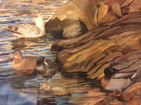 En del av Ingela Lindbloms tavlor är så naturtroget målat att man kan tro att det är ett fotografi.