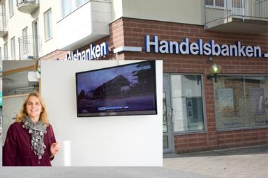 Camilla Weihart - Kontorschef vid Handelsbanken i Bollebygd visar gärna upp kommuens företag..