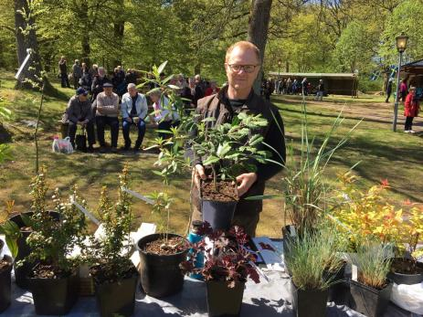 Kent Egner från Karlskrona sålde ovanliga växter från hela världen.