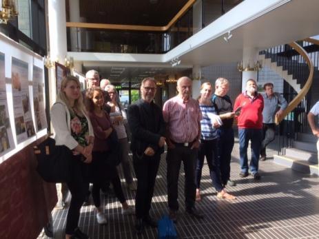 Många kom för att deltaga vid återinvigningen av utställningen om Bygd I Samverkans utveckling, där både Jörgen Johnsson och Klas Wennerberg har varit delaktiga.