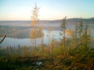 Höstbild över Myckelsjön den 8 oktober