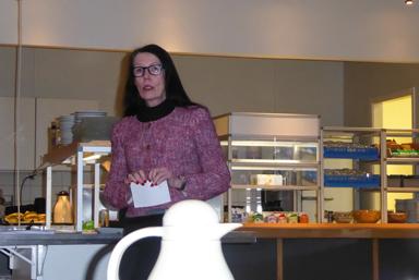 Annika Andersson från Leader Sjuhärad uppmanade deltagarna att fundera över möjligheter att söka stöd för nya idéer.