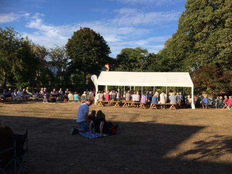 Under sommaren har man haft flera olika musikuppträdande i Svenmanska Parken i Bräkne-Hoby.