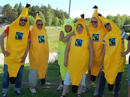 Skolledningen på Arlandagymnasiet gillar också Fairtrade.