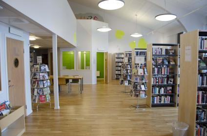 Borgarskolans bibliotek, bakre delen.