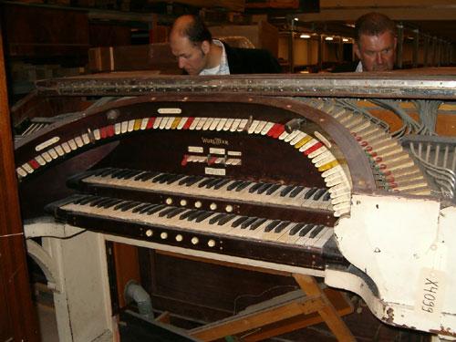 Spelbordet i Musikmuseets magasin