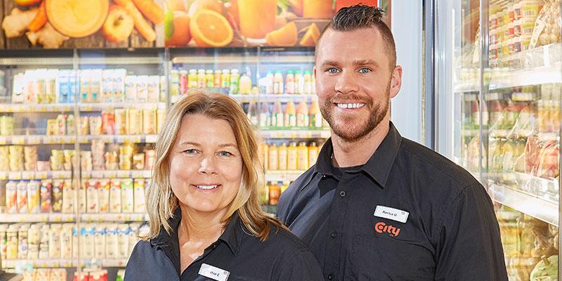Nya butikschefer. Kristina Einarsson och Pontus Granqvist är nya butikschefer på City Centrum.