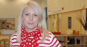 Hanna Johansson, kommunens första förstelärare i förskolan. <br />Foto: Pernilla Augustsson, Bollebygds kommun.