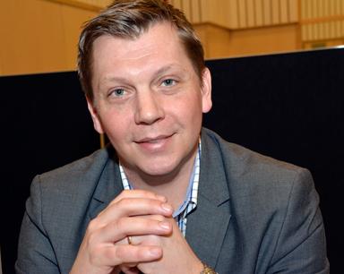Anders Einarsson, kommunchef i Bollebygd, är nöjd idag.