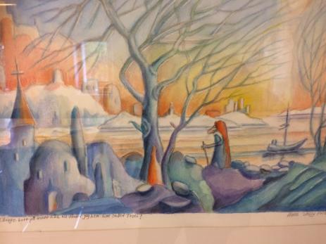 I Hans V Fribergs målningar får betraktaren själv skapa sig en fantasivärld.