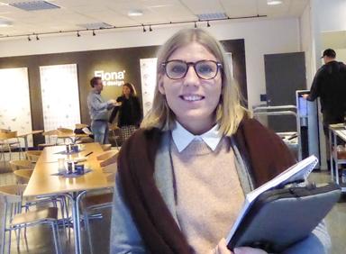 Samhällsplanerare Elisabeth Skogelind informerade om arbetet med ny Översiktsplan och kommunens byggplaner.