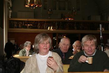 Herrskapet Elmeroth och Sven O. Linge. Bakom till vänster Arne Land.