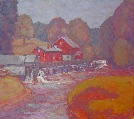 Målning av Gustav Arnold