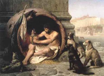 Diogenes też miał wadę wymowy.