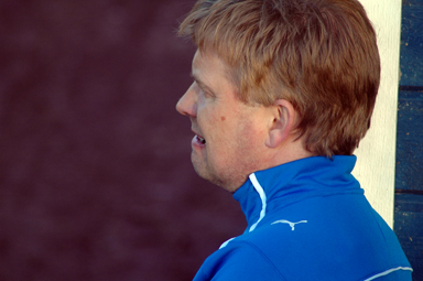 Koncentrerade Krok, lagledare i Bollebygds IF.