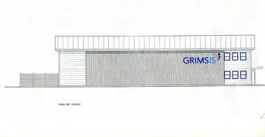 Så här kommer den nybyggda fastigheten att se ut från motorvägen.