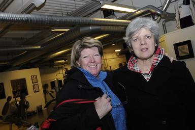 Sylvia Korsell och Kristina Magnusson arbetar båda hos Bollebygds kommuns hemtjänst och tränar ett par gånger i veckan.
