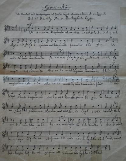 Manuskript i Vasaskolans arkiv
