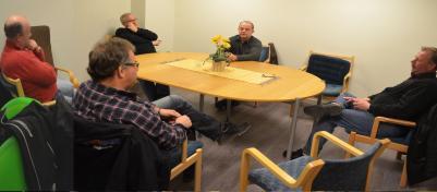 Vi som träffades på GH denna gång fr.v. Leif Lindström, Magnus Svensson, John Lundström, Bertil Böhlin, Hasse Hedlund och undertecknad.