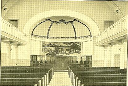 Aulan vid invigningen 1914