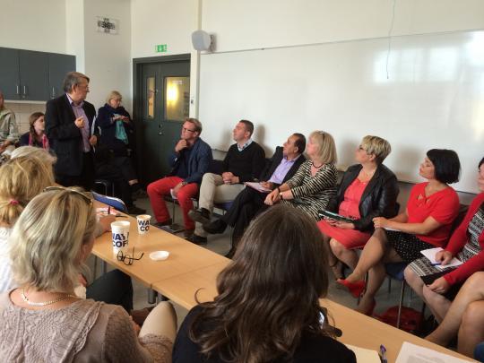 Politiker frän alla partier (utom Sverigedemokraterna) deltog på seminariet i Almedalen