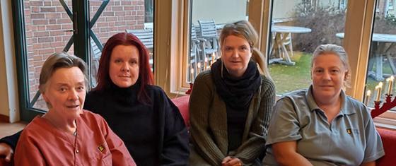 Teamet består idag av Marie-louise Carlheim, Carita Eriksson-Allmén Jessica Lundin, och Monica Johansson.
