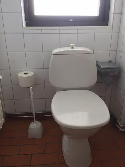 En Toalett vill nog ingen fastna i!
