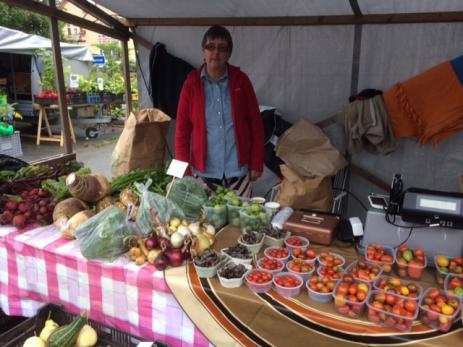Även i år sålde Åsa och Cecilia Olsson från Mörrums Trädgårdsmästeri sina grönsaker.