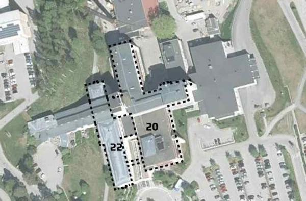 <span>I och med utökningen av Operations och operations dagvårdsavdelning lokaler till cirka 2 800 kvadratmeter kommer öron- näsa och halsmottagningen att flytta till den norra delen av byggnad 22. Bild:</span>