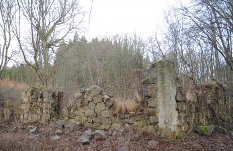 Idag finns det bara ruiner kvar av det en gång magnifika boningshuset.