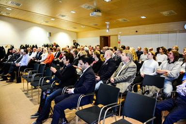 Runt 80 representanter från olika företag från de två kommunerna Bollebygd och Härryda deltog i det uppskattade frukostmötet.