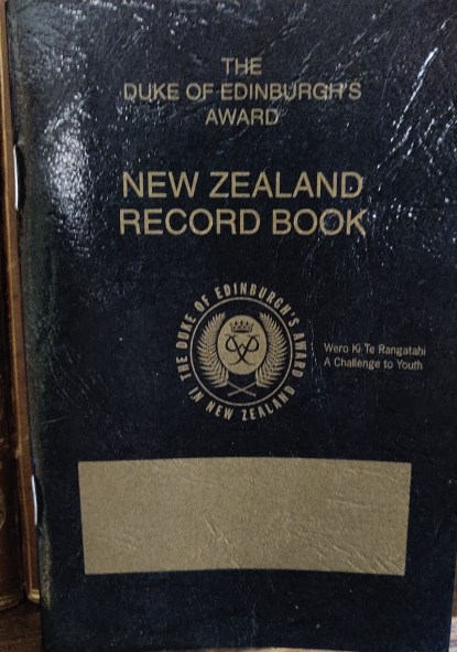 The Duke of Edinburgh´s award record book
