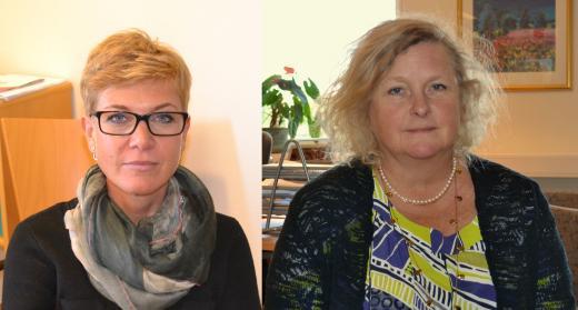 Eva Östberg (till vänster) och Ingemo Dahlin (höger) är Bergagymnasiets biträdande rektorer.