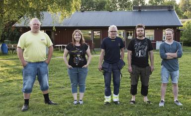 Thord Pettersson, Linda Persson, Robert Björkebro, Niclas Lang och Rickard Svensson.