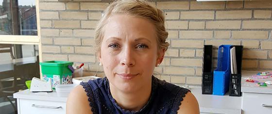 Hanna Johansson, förskollärare och förstelärare i naturvetenskap och teknik vid förskolan.