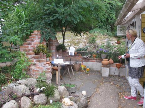 Trädgårdsentusiasterna fick mycket inspiration från de olika trädgårdarna de fick besöka.