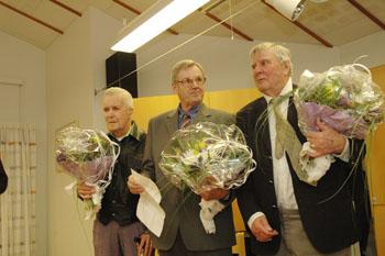 Kurt Olausson, Erling Andersson och Lennart Skatt. På bilden fattas Leif Thorell.