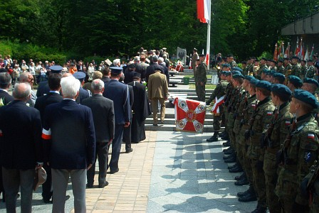 Celebration at the Monument of Constitution/Wroclaw