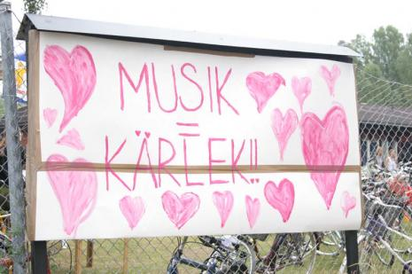 På festivaler uppstår ibland ljuv musik. Arkivbild (Arvikafestivalen 2005).