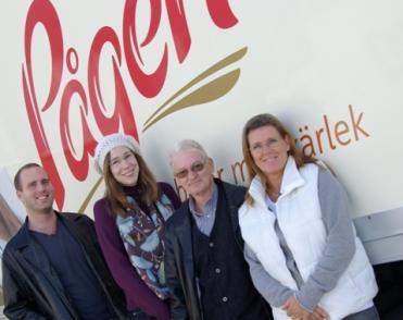 Frederick Batzler, Cecilia Daun Edwards,Kent Wahlberg och Susanne Andersson i fackklubben på Pågens i Malmö.