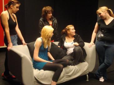 På bilden syns från vänster:Lotta Widjeskog, Elina Munter, Linn Vahlström, Johanna Landström och Evelina Hellman