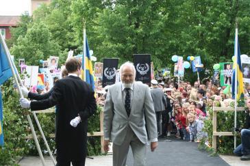 Sven-Ove Nyberg sedan han kastats ut av sin klass på avslutningsdagen