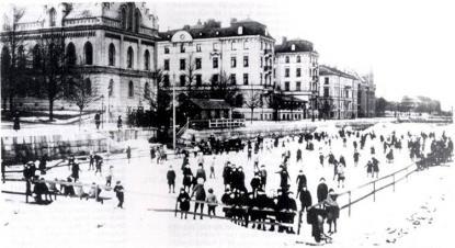 GGIF:s skridskobana på Gavleån ca 1920