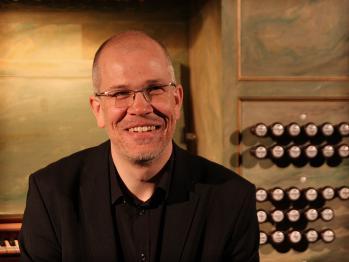 Mattias Wager efter konserten i S:t Jacobs kyrka