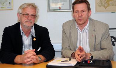 Kommunalråden Christer Johansson (M) och Peter Rosholm (S) är överens om att ett näringslivsråd behövs.